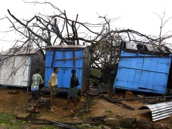 Gandjam Orissa Cyclone Phailin