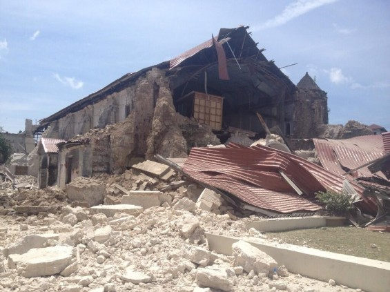 Loboc Church Bohol after earthquake